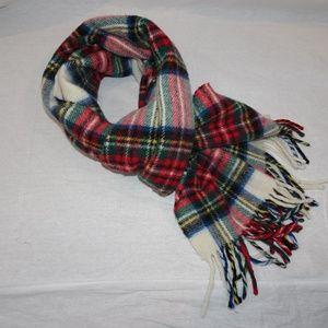 LL Bean Wool Plaid Scarf Made in Ireland